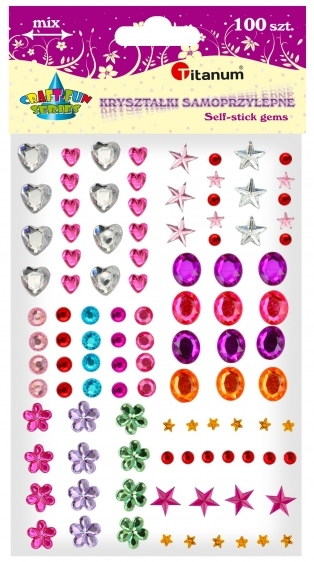Kryształki dekoracyjne samoprzylepne kreatywne mix 100szt