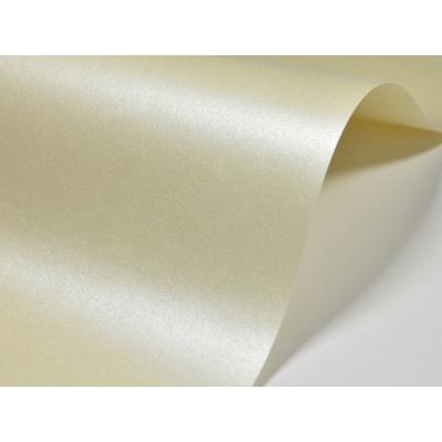 Papier ozdobny ecru metalizowany dwustronnie A4/20 D03 250g