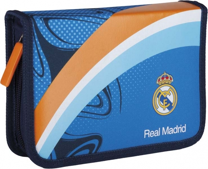 Piórnik pojedynczy bez wyposażenia 2 klap. RM-39 Real Madrid
