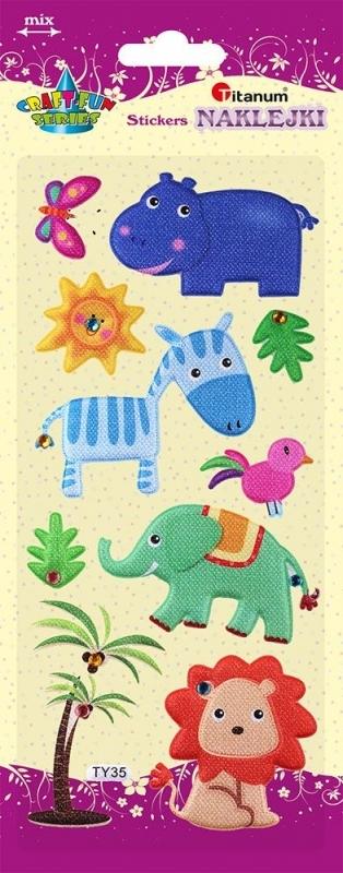 Naklejki dekoracyjne przestrzenne zwierzęta 2,5-7cm A`10