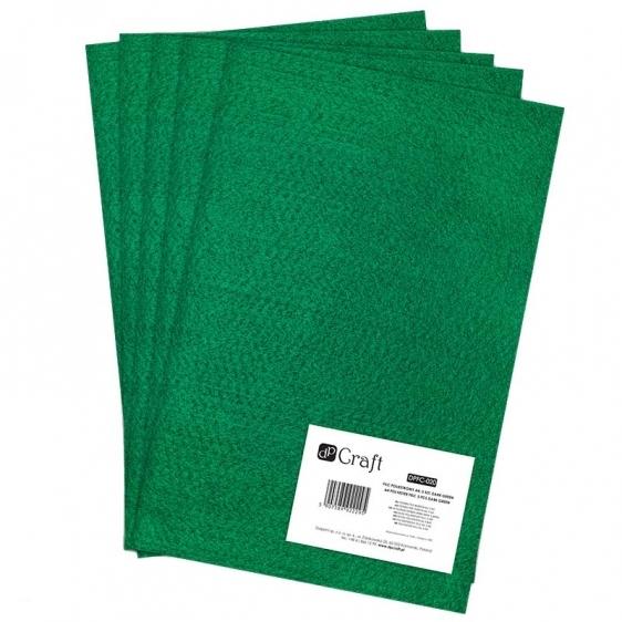 Filc poliestrowy A4 zielony ciemny 5 arkuszy Dalprint