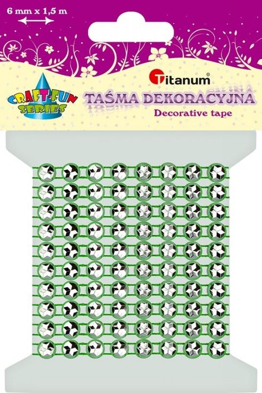 Kryształki na taśmie zielone 0,6cmx1,5m