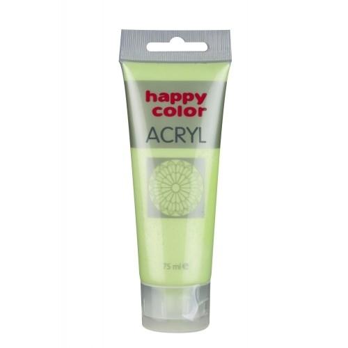 Farba akrylowa limonka metalik 75 ml Happy Color