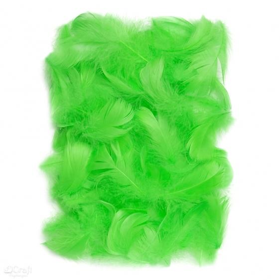 Piórka 5-12cm 10g zielone