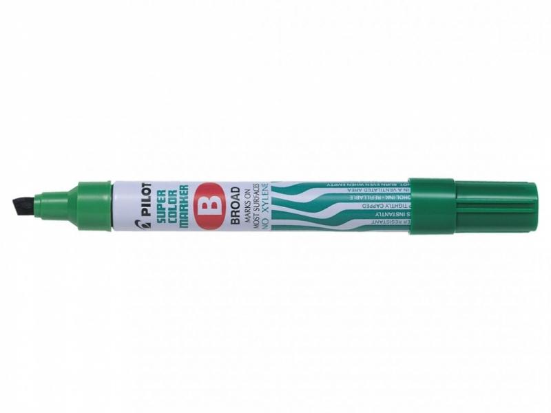 Marker permanentny ścięty sca-b Broad zielony PIlot