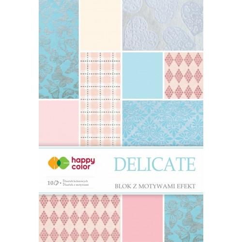 Happy Color blok z motywem Delicate A4 10 ark