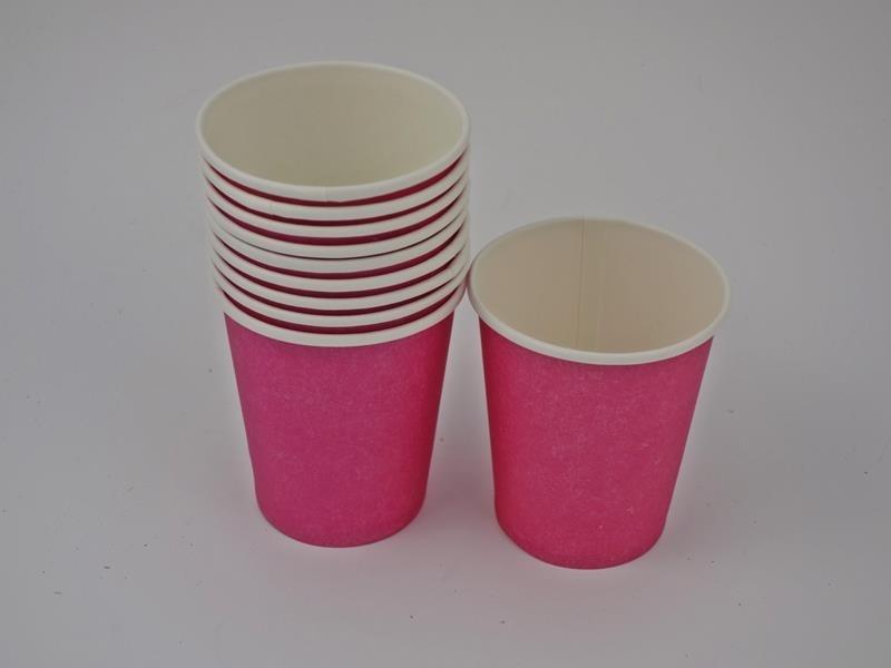 Kubek papierowy kolor c. różowy 270ml A`10