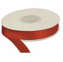 Wstążka satynowa dekoracyjna czerwona 12mm/25m