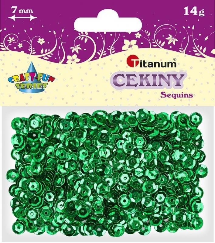 Cekiny kreatywne okrągłe zielone tęczowe 7mm 14g