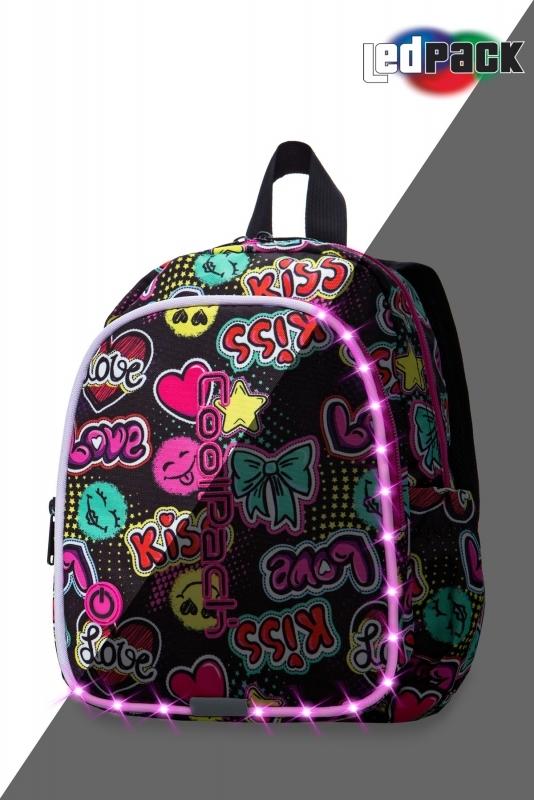 Plecak dziecięcy Coolpack Bobby Emoticons Led