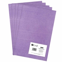 Filc poliestrowy A4 lilac 5 arkuszy Dalprint