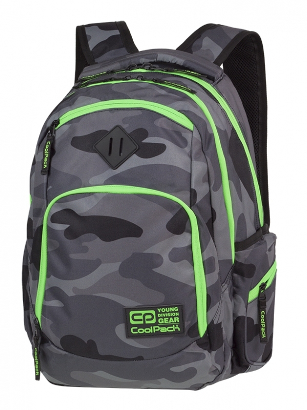 Plecak młodzieżowy Coolpack Break Camo Green Neon A371