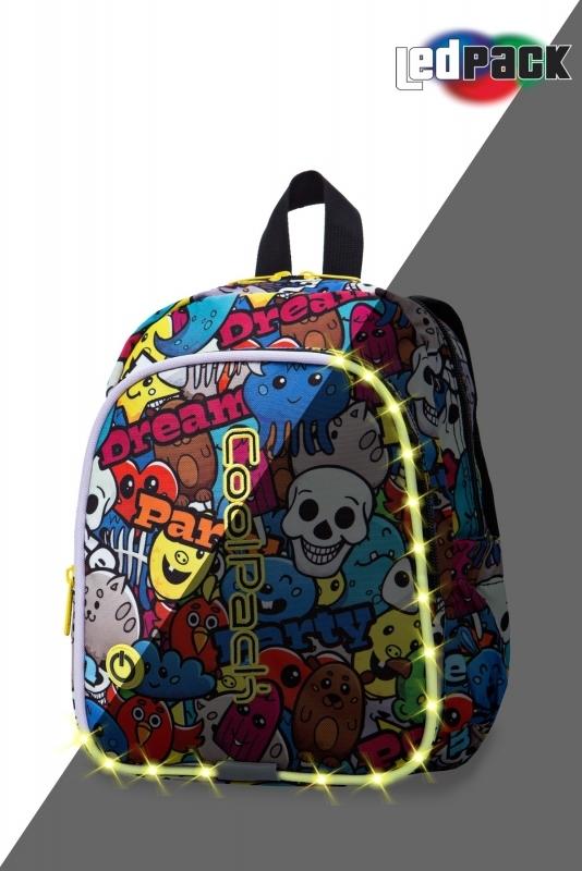 Plecak dziecięcy Coolpack Bobby Cartoon Led