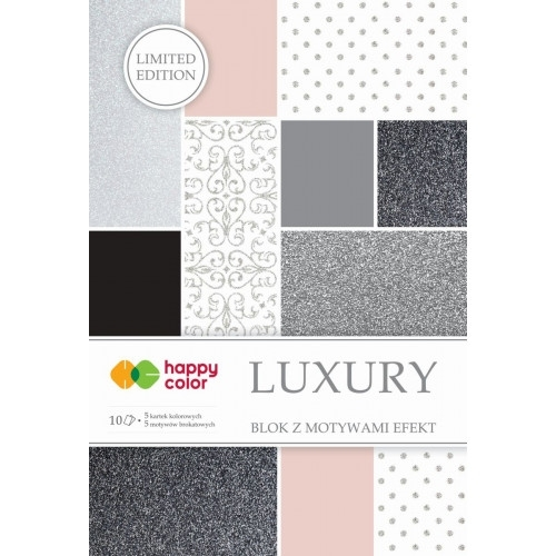 Happy Color blok z motywem Luxury A4 10 ark