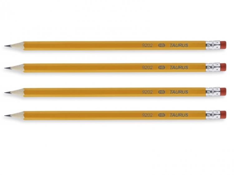 Ołówek z gumką sześciokątny HB Taurus