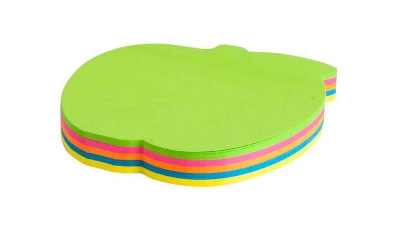 Notes samoprzylepny neon  kształty jabłko op.100k