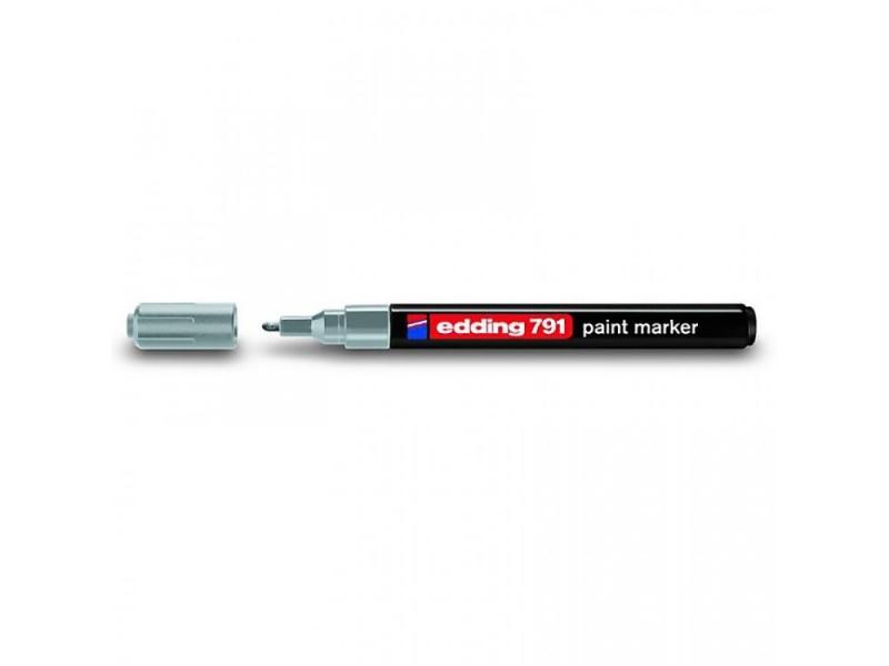 Marker lakierowy Edding 1-2mm, końcowka okrągła srebrny