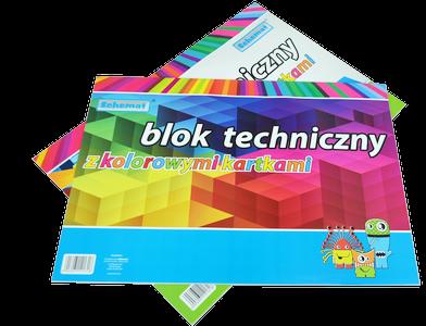 Blok techniczny kolorowy A3 10 kartek