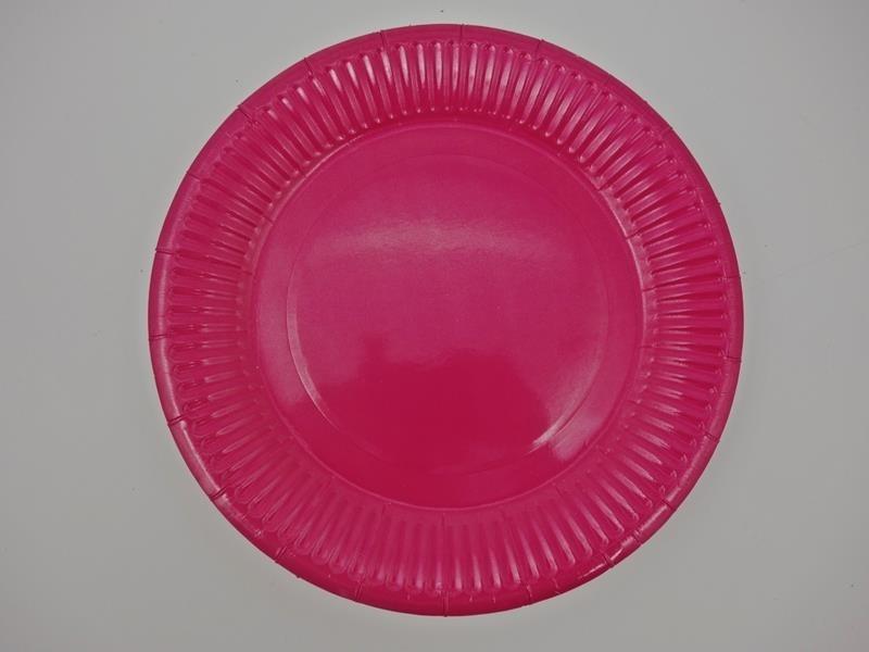 Talerz papierowy kolor c. różowy 17,5cml A`10