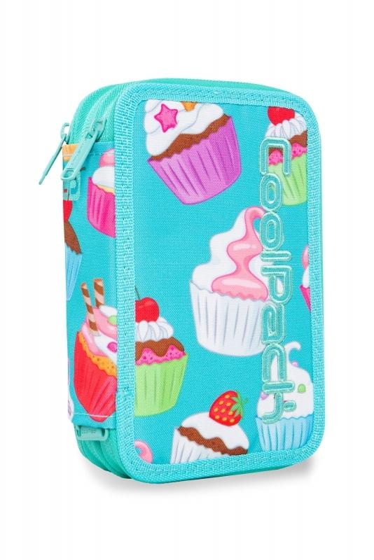 Piórnik potrójny. z wyp.Coolpack Jumper 3 Cupcakes