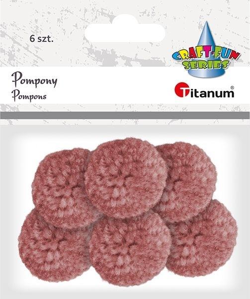 Pompony pastelowe ciemnoróżowy 3cm A`6