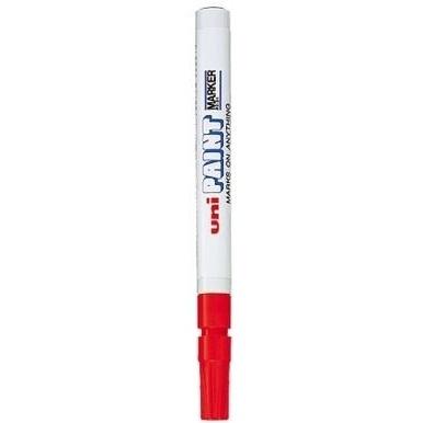 Marker olejowy grubość linii: 0,8-1,2 mm Uni czerwony