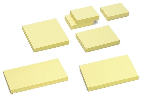 Notes samoprzylepny 125 x 75mm  pastel żółty TRES
