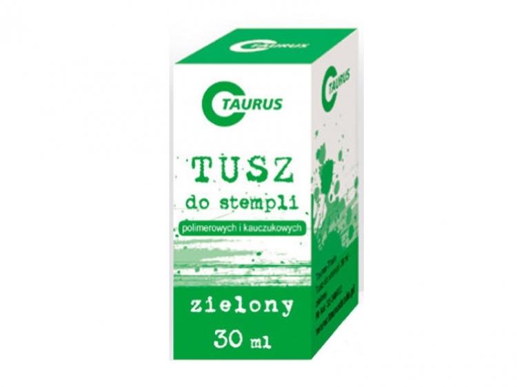 Tusz do stempli 30ml zielony Taurus