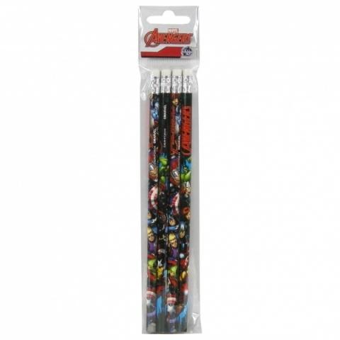 Ołówek z gumką Avengers 4szt