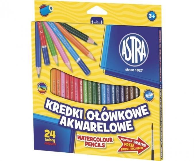 Kredki akwarelowe 24 kolory Astra