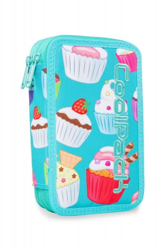 Piórnik podw. z wyp.Coolpack Jumper 2 Cupcaks Led