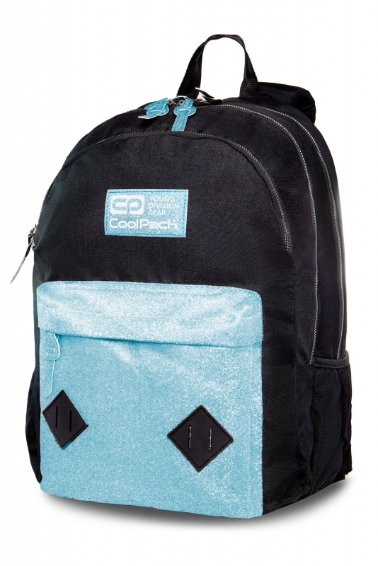 Plecak młodzieżowy Coolpack Hippie Blue Glitter