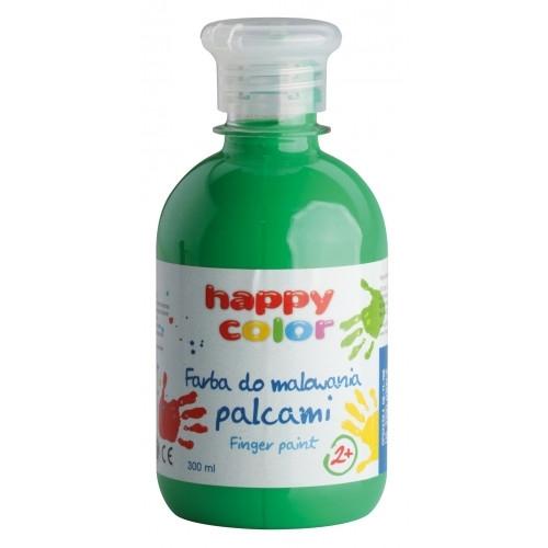 Farba do malowania palcami 300ml zielona Happy Col
