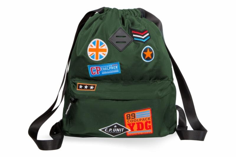 Plecak sportowy Coolpack Urban Badges Green