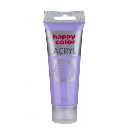 Farba akrylowa fioletowa pastelowa 75 ml Happy