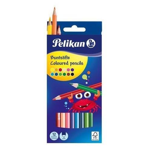 Kredki ołówkowe 12 kolorów Pelikan