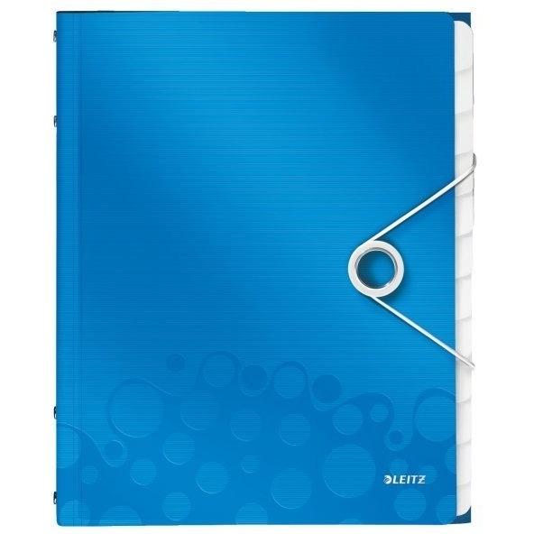 Teczka 12 przegródek A4 200k niebieska Leitz Wow