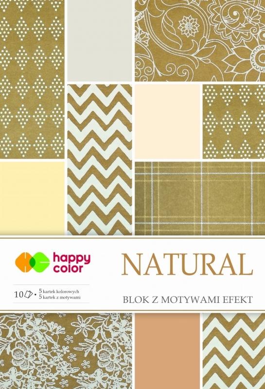Happy Color blok z motywem Natural A4 10 ark