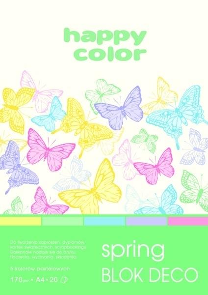 Happy Color blok kolor mix Spring A4/20 170g Deco