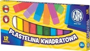 Plastelina kwadratowa 12 kolorów Astra