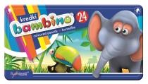 Kredki świecowe metalowe pudełko 24 kolory Bambino