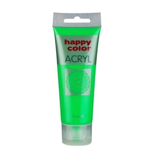 Farba akrylowa zielona fluo75 ml Happy  Color