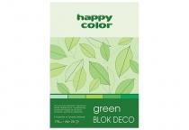Blok techniczny DECO A5/20 170g 5 odcieni zieleni