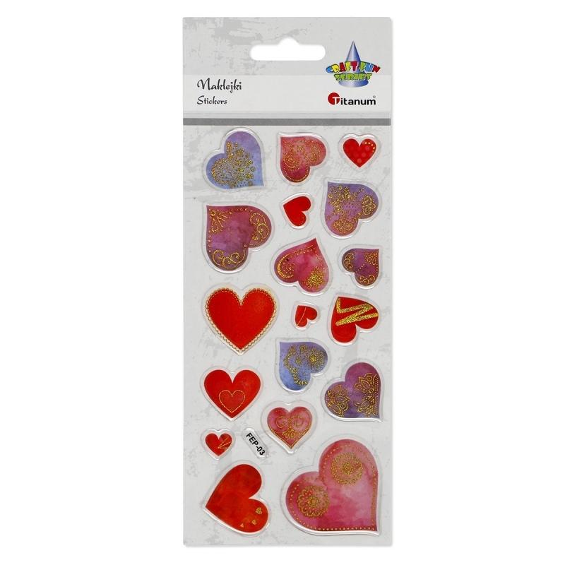 Naklejki do dekoracji serca A`18