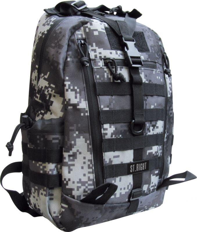 Plecak młodzieżowy St.Right Military Black Digita Cam