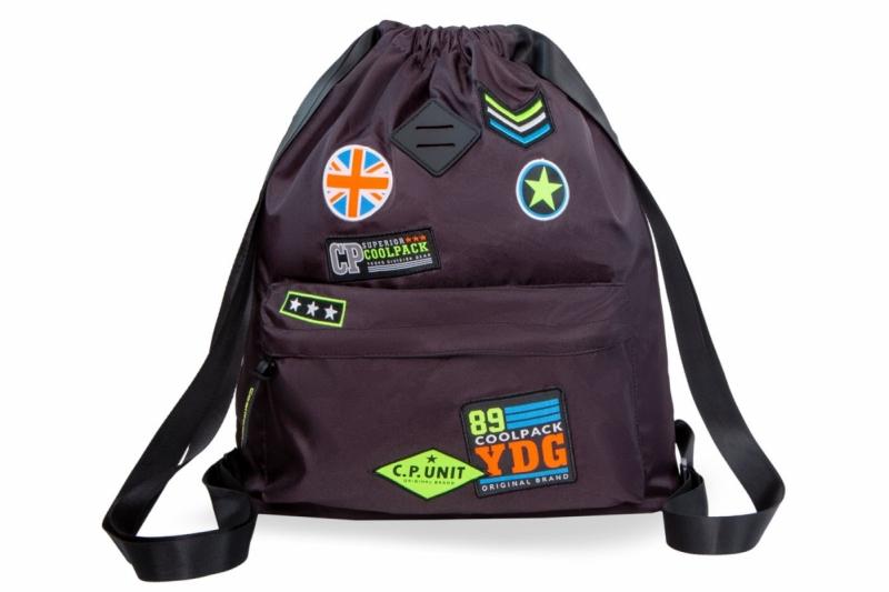 Plecak sportowy Coolpack Urban Badges Black