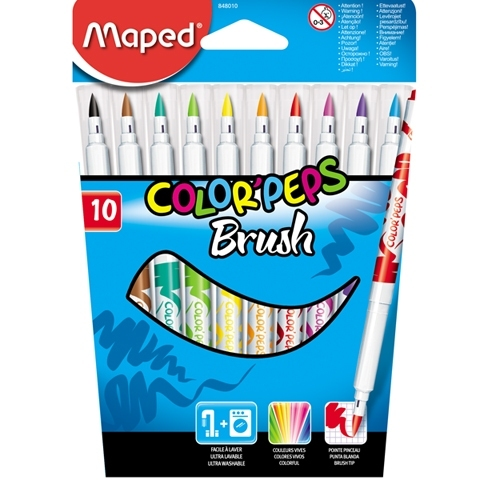 Flamastry pędzelkowe 10 kol.Cplorpeps Brush Maped