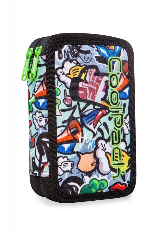 Piórnik podw. z wyp.Coolpack Jumper2 Graffiti Led