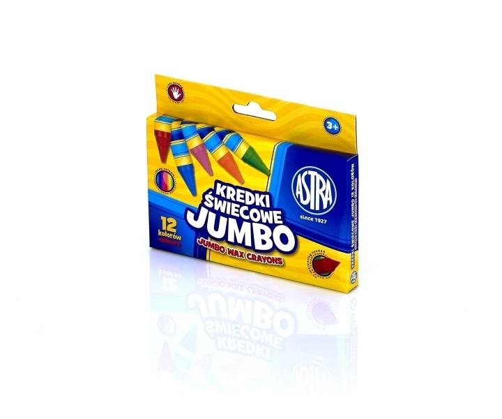 Kredki świecowe 12 kolorów Jumbo Astra