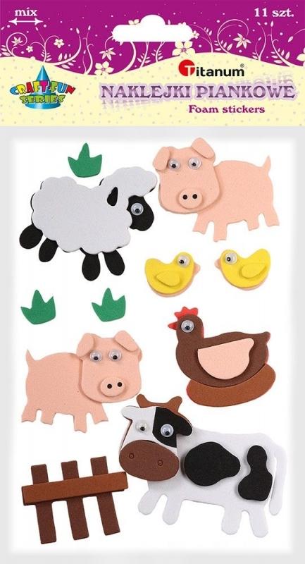 Naklejki piankowe 3D zwierzęta wiejskie 1,5-5 cm  A`11